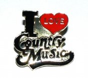 Pin I love Country Music