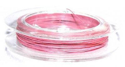 Wire 0.38 mm 10 meter rosa ljus