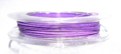 Wire 0.38 mm 10 meter lila ljus
