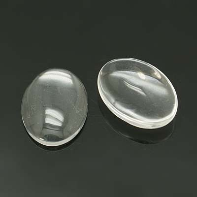 Cabbe cabochon glas oval 28 x 18 mm 1 st
